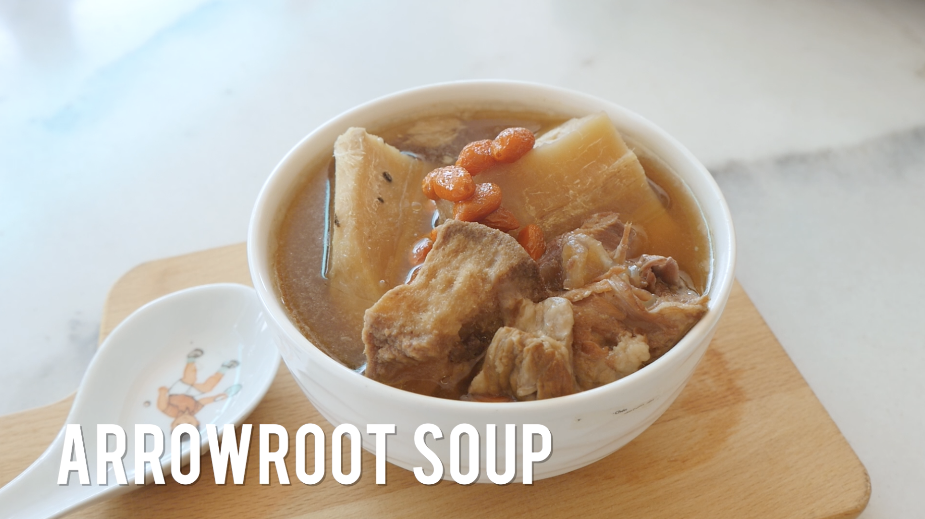 Arrow Root (粉葛) Soup Recipe | Foods good for skin #HealthEssentialsCooks