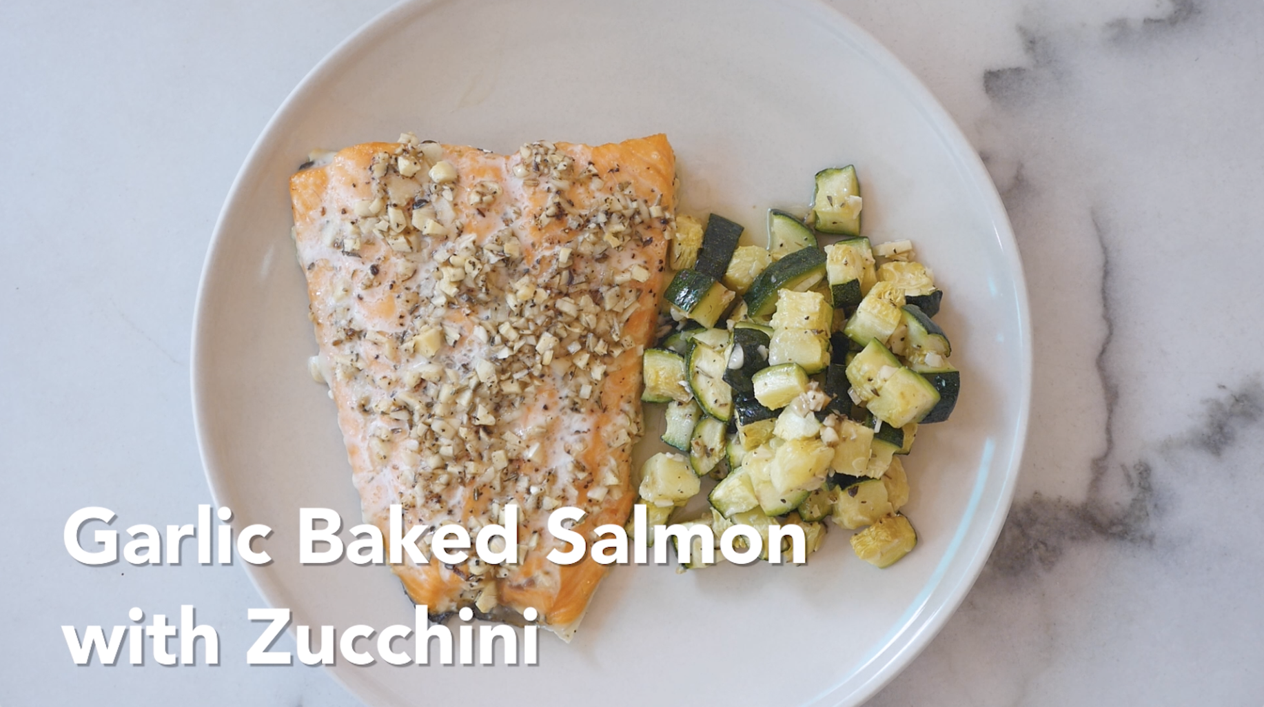 GARLIC BAKED SALMON ZUCCHINI | Food Good for Skin #HealthEssentialsCooks
